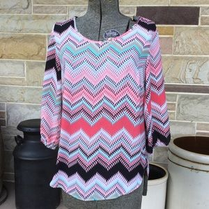 Maurices Chevron Patterned Top